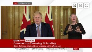 "Coronavirus: Boris Johnson sets out ""drastic action"" 🔴 @BBC News - BBC"