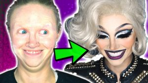 first time DRAG MAKEUP transformation